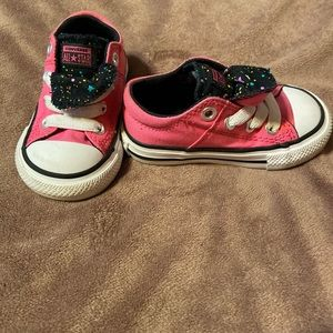 Infant Pink Converse AllStar Shoes